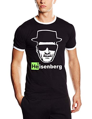 Coole-Fun-T-Shirts Uni Heisenberg Head Logo T-Shirt, Schwarz, XL