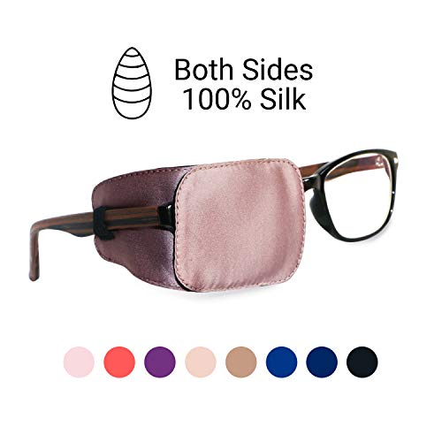 Astropic Silk Eye Patch for Adults Kids Eye Patch for Glasses Medical Eye Patch for Lazy Eye Amblyopia Strabismus and After Surgery (Dusty Pink)