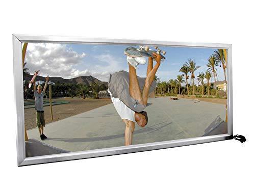 EUROPALMS Reklamewand, beleuchtet, aluminium | Höhe: 210 cm | Breite: 110 cm | Tiefe: 10 cm