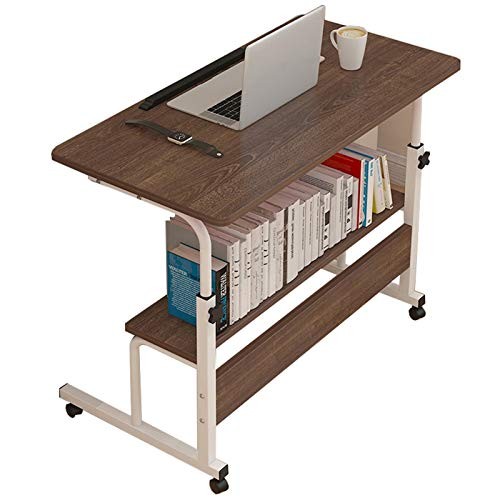Computer Workstations Overbed Table Adjustable Height with Wheels, Mobile Laptop Table with Castors Portable Bedside Bed Sofa Study Working Small Side End Table Portable Table (Color : B)