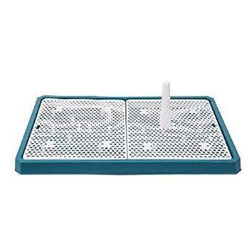 ZXL Cat Litter Box Pet Supplies Lattice Dog Toilet Potty Pet Toilet for Dogs Cat Puppy Litter Tray Training Toilet Facile à Nettoyer Produits pour Animaux de Compagnie Litière et éducation Domes