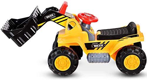Sport1 Scavatore Giocattolo cavalcabile per Bambini Grande Giallo ruspa Giocattolo per Bambini 2 Anni 84x46x31