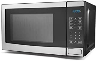 Mainstays 0.7 cu ft Digital Microwave Oven 700W output 10 Power Levels, Stainless Steel