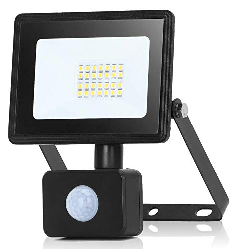 Aigostar 30W Foco LED con Sensor Movimiento,2700LM Super Brillo Focos LED Exterior IP65 Impermeable,4000K Blanco Natural Proyector Led Exterior,Perfectas para Jardín, Garaje, Patio, etc.