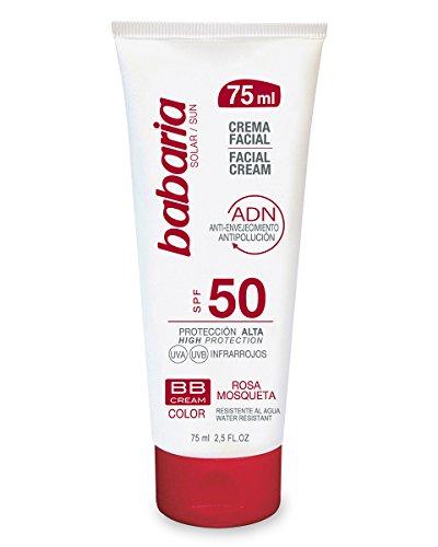 Babaria Crema Facial Solar BB Rosa Mosqueta - 75 ml