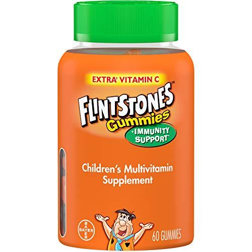 Flintstones Children's Multivitamin Plus Immunity Support Gummies 60 Count (Pack of 2)