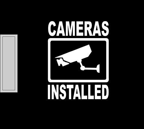 Lplpol Camera's Geïnstalleerd Vinyl Sticker Winkel Voordeur Open Sluit Gebaren Licht