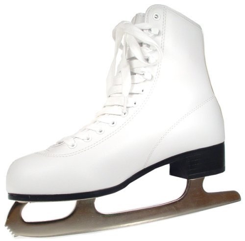 American Athletic Shoe Women's Tricot Lined Ice Skates, White, 9