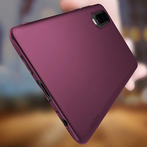 Huawei P30 Hülle, [Guardian Serie] Soft Flex Silikon Premium TPU Echtes Telefongefühl Handyhülle Schutzhülle Kompatibel mit Huawei P30 6,1 Zoll Case Cover – Weinrot - 3