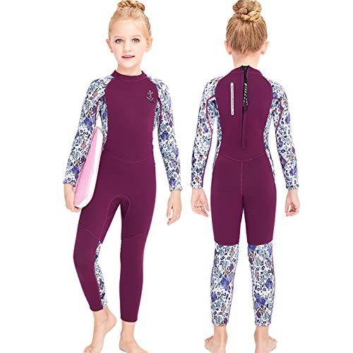 Gogokids Kinder Neoprenanzug - Jungen Mädchen Neopren Badeanzug, Rash Guard Einteilige Badebekleidung 2.5mm Taucheranzug Schnorchelanzug UV 50+ Sonnenschutz, XL