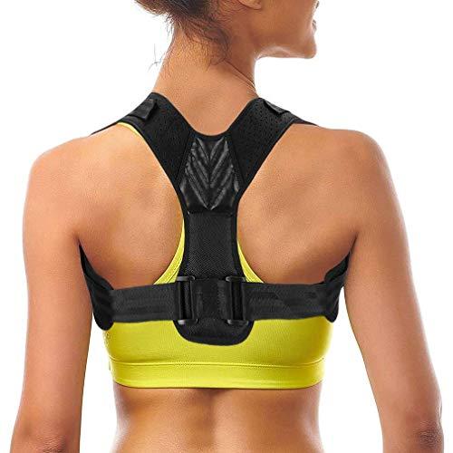 FINIBO Geradehalter zur Haltungskorrektur Haltungskorrektur Schultergurt Rückenstütze, Atmungsaktiv Verstellbares Band Rückentrainer für Mann und Frau, Haltungstrainer Posture Corrector