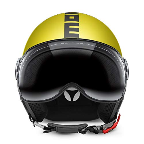 CASCO MOMO FIGHTER FGTR CLASSIC GIALLO MATTO ANTRACITE TAGLIA M