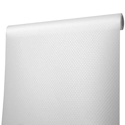 Alfombrilla para cajones, impermeable, repelente de humedad, se puede cortar a medida, alfombrilla antideslizante Alfombrilla para cajones para estantes de frigoríficos, 45 x 200 cm (transparente)