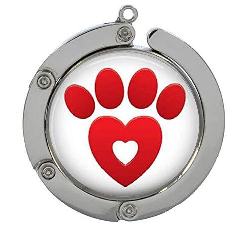 porque conoce a usted Red Paw & Heart Monedero gancho, regalos para ella, percha para monedero