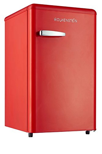 Retro Kühlschrank mit Gefrierfach Feuer Rot KS 95RT FR A+ 90 Liter Nostalgie Design