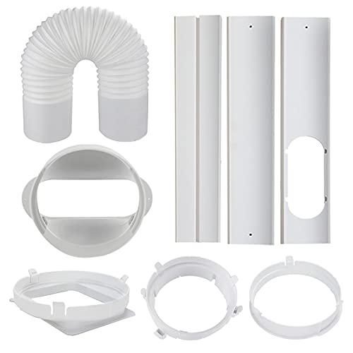 Akkem Accesorios para aire acondicionado, placa de kit de ventana corrediza para aire acondicionado portátil, longitud ajustable, kit de ventilación CA portátil
