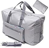 Large Foldable Travel Duffle Bag For Women Hospital Bag Cute Floral Tote Handbag Shoulder Weekender Overnight Carry On Checked Luggage Bag For Girls (silver)