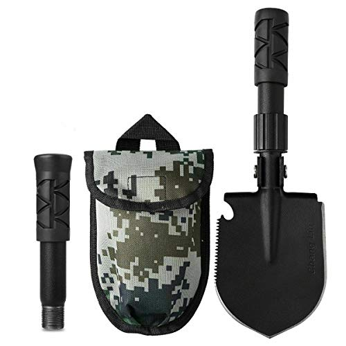 OutShovel Military Survival Folding Shovel for Outdoor Camping Hiking Backpacking Fishing Gardening Hunting SnowRemoving Tactical Army Surplus Multitool Car Emergency Spade Small