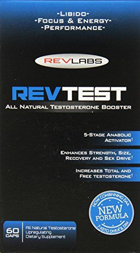 Rev Labs All Natural Testosterone Booster, 60 Count