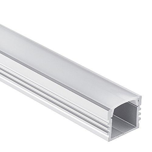 LED Aluminium Profil PL2 Arrakis LED Profil 2 Meter für LED Streifen + Abdeckung Opal (milchig) LED Aluprofil