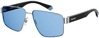 SUNGLASSES PLD 6121 S KUF C3 SILVER BLUE POLARIZED LENSES
