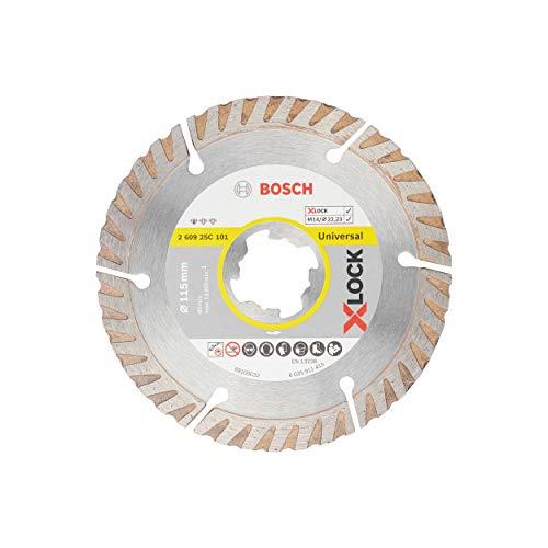 Bosch Professional Diamant Trennscheibe Standard for Universal (X-LOCK, Scheibe Ø 115 mm, Bohrung Ø 22,23 mm, Dicke 2 mm, Zubehör Winkelschleifer)
