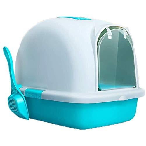 Caja de Arena para Gatos con Tapa, Inodoro para Mascotas Duradero Caja de Arena para Gatos Cerrada Caja de Arena para Gatos de Plástico Ecológico con Tapas Diseño Desodorizante Pedal de Fugas de Are
