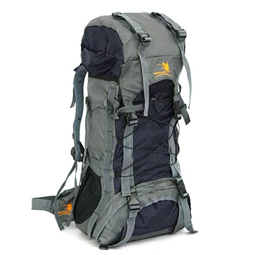 RatenKont 60L Bolsa Impermeable al Aire Libre Viaje Escalada Montañismo Camping Senderismo Mochilas Black Color