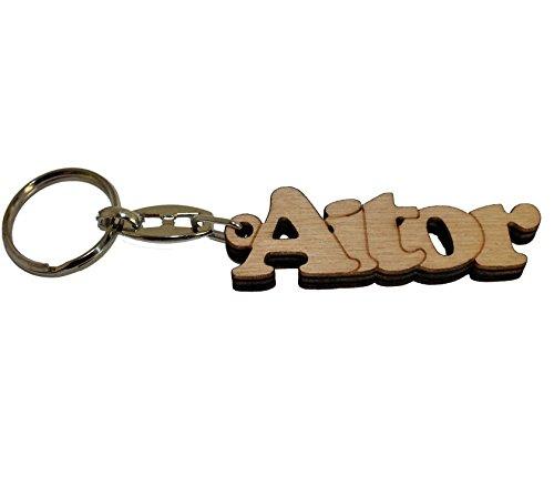 Acan - Llavero de Madera con el Nombre Aitor