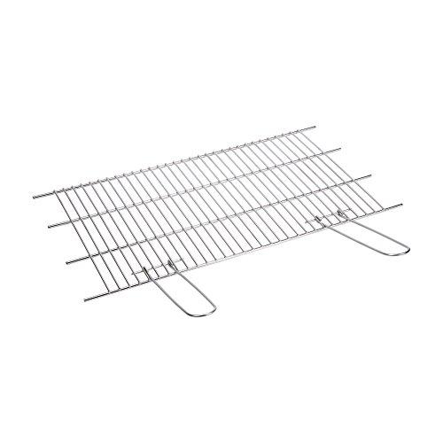 Sauvic 02745 Parrilla Barbacoa 18/8 60x40 CM. Recortable, Acero Inoxidable, 62.00x40.00x1.50 cm