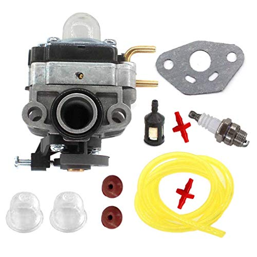 AISEN Carburetor for Troy-Bilt TB4BP TBP6160 TB4BPEC 753-05676A 41CR4BPG966 Carb Gasket Fuel Filter Fuel Line
