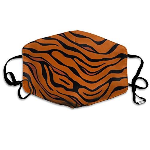 Utdestine Mascarilla de boca con diseño de tigre, unisex, poliéster,