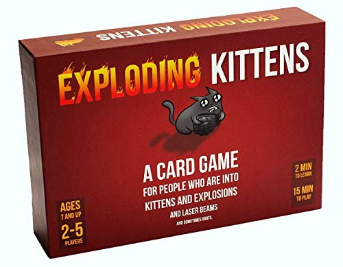 Product Image of the Exploding Kittens Card Game - Family-Friendly Party Games - Card Games for...