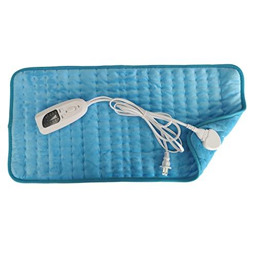 Manta eléctrica multifuncional, calefacción, suave, calefacción, calefacción, calentadores de pies, manta eléctrica, almohadilla de calor para aliviar el dolor de espalda, azul 2