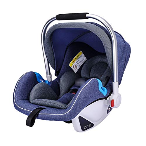 Purchase Car Seat RENJUN- Infant Flanking Protection Lumbar Support Increase Awning Thickened Crotch Design Basket Type Breathable Suitable for 0-15 Months -3 Colors (Color : Blue)