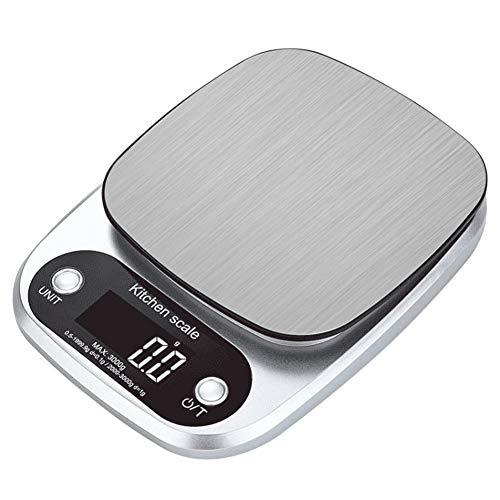 SODIAL Balance de Cuisine Domestique Balance de Nourriture éLectronique Balance de Cuisson Outil de Mesure Plate-Forme en Acier Inoxydable avec éCran LCD