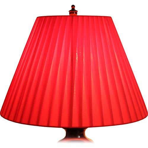 MYMAO Lámpara Plisada de Gasa Sombra, Rojo,50CM