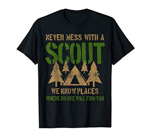 Scout Camp Camping Tent Funny Saying Joke Leader Gift T-Shirt