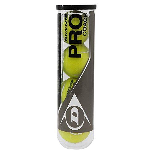 Dunlop Tennisbälle Pro Coach 4er, Gelb, One size