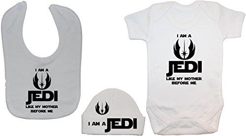 """Babero, mameluco gorro inscripción """"I Am Jedi Like"""