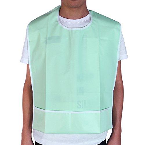 Healifty Erwachsenen Lätzchen Latz Wasserdicht Esslätzchen Essschürze Ess-Schürze für Senioren Ältere Behinderte Patienten Kleidungsschutz (Hellgrün)