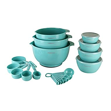 Farberware 5212677 Professional Baking Set 23-Piece Mix and Measure, Aqua Sky