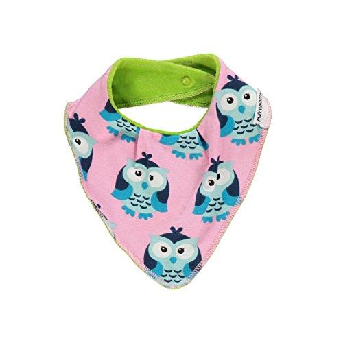 Maxomorra MAXOMORRA Baby Mädchen Halstuch Rosa Blau Eule Kinder Dribble BibGots BioBaumwolle - Größe: One Size