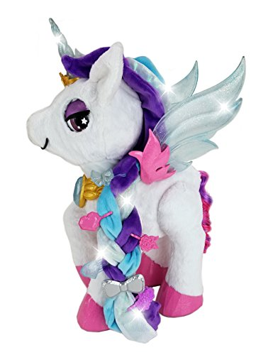 VTech Myla The Magical Make-Up Unicorn Toy with Microphone for Kids, Soft Toy for Kids, Musical Toy with Sounds and Sing-Along Songs, Sensory Toy for Boys and Girls Aged 5 Years and Above