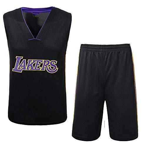 DDSC Baloncesto Uniformes Kids Boy Men Lakers Kobe Bryant Traje de Baloncesto Bordado de Jersey Conjunto de Verano Deportivas Camiseta Color Clasico -Ropa De Jersey Black-XX-Large