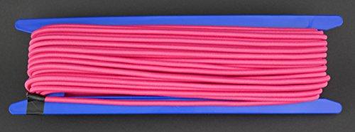 Gepolight–Cuerda elástica, 20m de diámetro 5mm NEON de color rosa fluorescente (se enciende bajo Negro Luz)