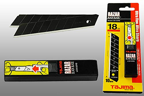 TAJIMA Ersatzklingen RAZAR BLACK 60° 18mm 10er Pack