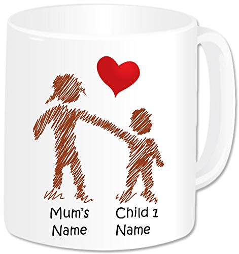 Personalised Family Gifts - Mummy Mug with 1 Kid - Birthday Christmas Mother's Day Gifts Present for...