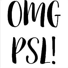 OMG PSL Basic B Fall Black Decal Vinyl Sticker Cars Trucks Vans Walls Laptop  Black  5.5 x 4.5 in LLI712
