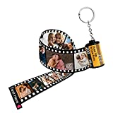 Personalized Camera Film Roll Keychain with Photo Custom Film Roll Keychain for Valentine's Father's Day Mother's Day